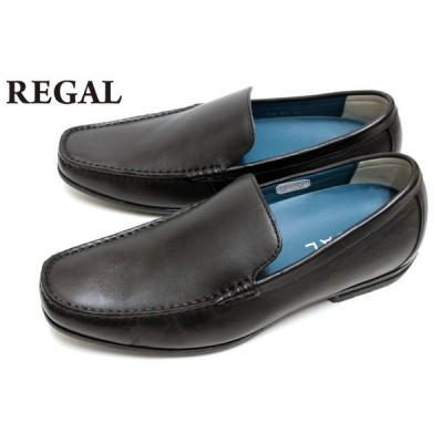 リーガル REGAL 靴 メンズ ビジネスシューズ 56HRAF ロングノーズラスト 本革 バンプスリッポン ブラック
