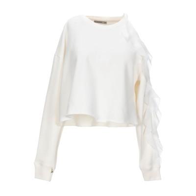 パトリツィア ペペ PATRIZIA PEPE スウェットシャツ ホワイト 1 コットン 100% スウェットシャツ