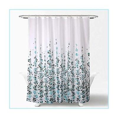 新品Rainlin Shower Curtain for Bathroom, 72x72 Inch Floral Vine Print Polyester Fabric Machine Washable Waterproof Shower Curtains Decorat