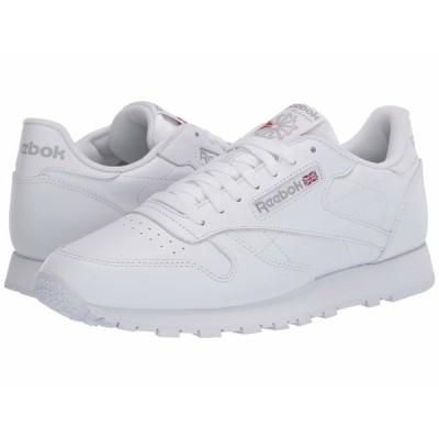 リーボック スニーカー シューズ メンズ Classic Leather White/White/Light Grey