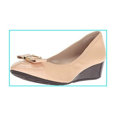 Cole Haan Women's Emory Bow Wedge (40MM) Pump, Nude Leather, 8 B US【並行輸入品】