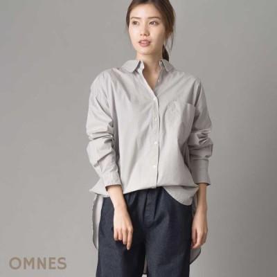 レディース シャツ フリーサイズ OMNES タイプライター ウォッシャブル襟抜きビッグシャツ  ビッグシルエット ナチュラル カジュアル