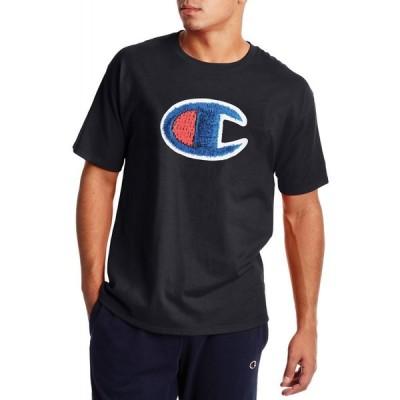 チャンピオン Champion メンズ Tシャツ トップス Classic Graphic C Patch T-Shirt Black