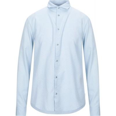 アルマーニ ジーンズ ARMANI JEANS メンズ シャツ トップス solid color shirt Sky blue