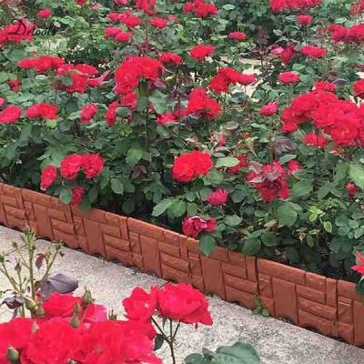 6 個 ガーデン レンガセメントフェンスセメント石の金型花の中庭 芝生 型模造石 プラスチック フェンス GT116