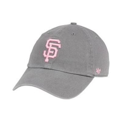 47ブランド レディース 帽子 アクセサリー San Francisco Giants Dark Gray Pink CLEAN UP Cap DarkGray/Pink