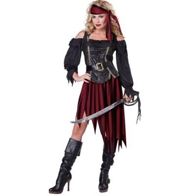 海賊 パイレーツ ハロウィン コスプレ 衣裳 外海の女王 女海賊 大人用コスチューム
