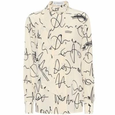 ヴィクトリア ベッカム Victoria Beckham レディース ブラウス・シャツ トップス Printed silk crepe de chine blouse Creamblack