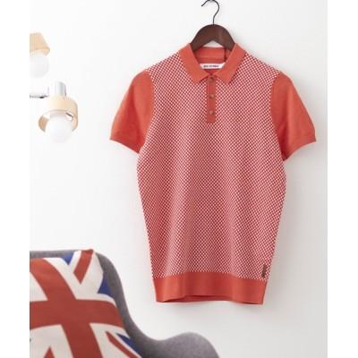 ポロシャツ マイクロジオニットポロシャツ