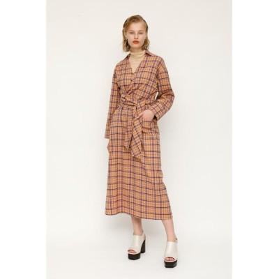 【スライ】 AIRY CHECK TWIST TIE ドレス レディース M/BEG7 1 SLY