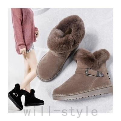 レディースムートンブーツぺたんこショート丈スマートすっきり歩きやすいフェイクファーカジュアルあったかい冬靴