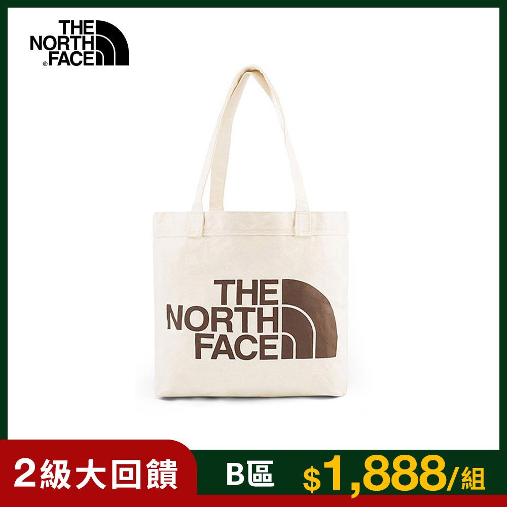 The North Face北面男女款褐色LOGO帆布休閒側背包|3VWQR17