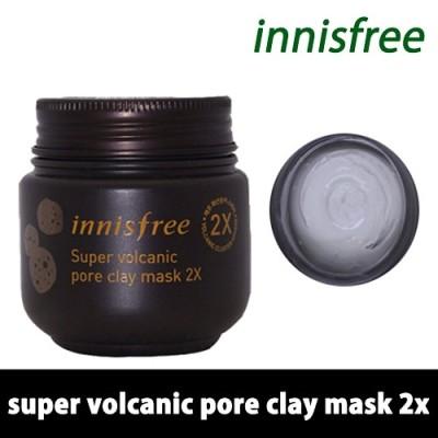 「イニスフリー」スーパー火山毛穴マスク2X 100mL / Innisfree Super Jeju Volcanic Pore Clay Mask / 韓国コスメ