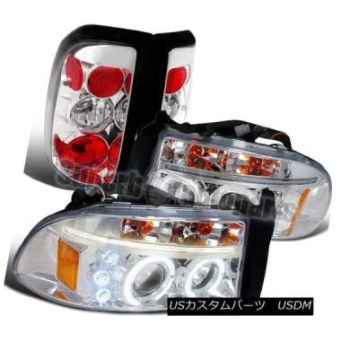 ヘッドライト 1997-2004 Dodge Dakota LEDプロジェクターヘッドライト+タイ  lブレーキランプクローム