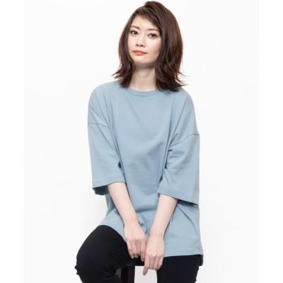 mili an deni / 240g裾ラウンドBIGTシャツ WOMEN トップス > Tシャツ/カットソー