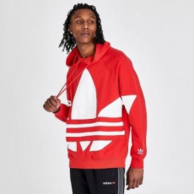 アディダス オリジナルス パーカー adidas Originals Big Trefoil Hoodie フーディー Red