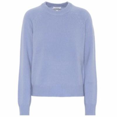ガニー Ganni レディース ニット・セーター トップス Wool-blend sweater Forever Blue