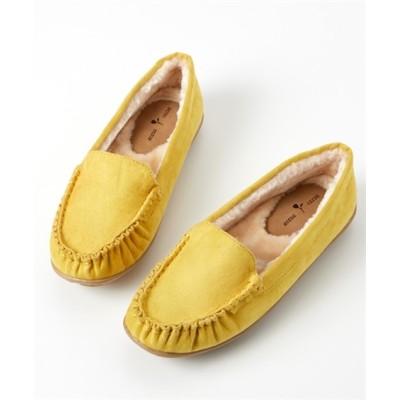 フェイクファードライビングシューズ(低反発中敷)(ワイズ4E) シューズ(フラットシューズ) Shoes