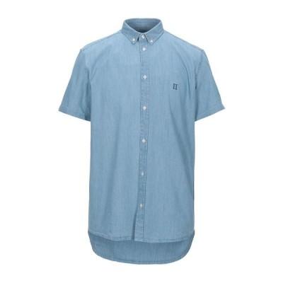 LES DEUX デニムシャツ  メンズファッション  トップス  シャツ、カジュアルシャツ  長袖 ブルー
