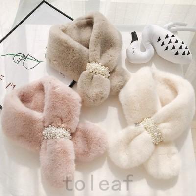 ファーマフラーレディースボアファーティペットふわふわプレゼントスヌート防寒秋冬もふもふふわもこ小物ファッション
