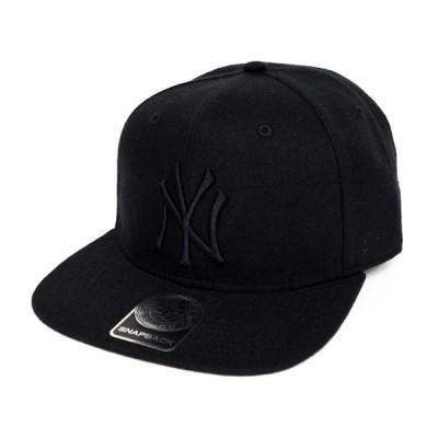 47BRAND フォーティーセブン ブランド キャップ YANKEES SURE SHOT '47 CAPTAIN Black×Black CAP キャップ SNAPBACK スナップバック 帽子