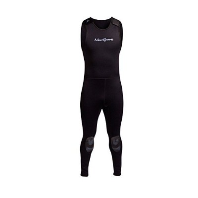 NeoSport Wetsuits Men's Premium Neoprene 7mm John,Black,Medium並行輸入品