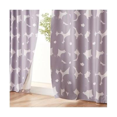遮光カーテン(北欧風フラワー)(1枚)【1cm単位オーダー】 ドレープカーテン(遮光あり・なし) Curtains, blackout curtains, thermal curtains, Drape(ニッセン、nissen)