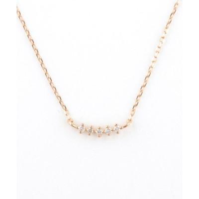 ネックレス K10 ダイヤモンド ネックレス