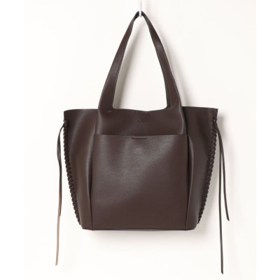 (UNGRID bag/アングリッド バッグ)ナチュラルグレインシンプル軽量トート/レディース DBRN