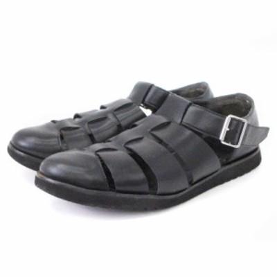 【中古】B&Y ユナイテッドアローズ ビューティー&ユース グルカ シューズ サンダル 1431-699-6803 レザー 黒 26 靴