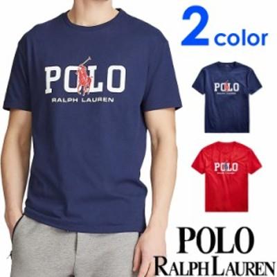[送料無料] POLO RALPH LAUREN ポロ ラルフローレン メンズ プリント 半袖 Tシャツ ネイビー レッド おしゃれ ブランド 大きいサイズ [71