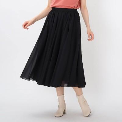 エージー バイ アクアガール AG by aquagirl 【洗える】サーキュラーボイルスカート (ブラック)