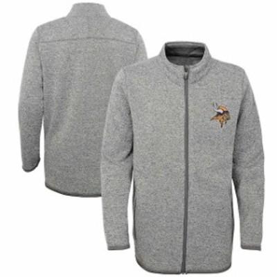 Outerstuff アウタースタッフ スポーツ用品  Minnesota Vikings Youth Heathered Gray Lima Full-Zip Jacket