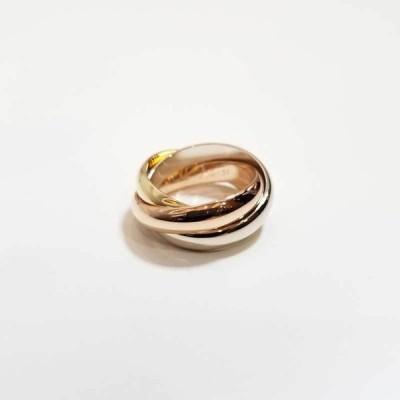 Cartier カルティエ トリニティ リング 750 K18 YG WG PG #51 指輪 3連 イエローゴールド ホワイトゴールド ピンクゴールド 【中古】