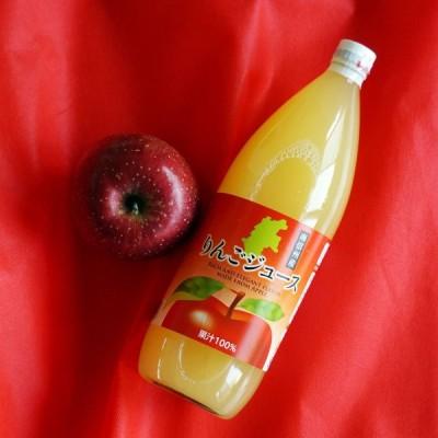 りんごジュース リンゴジュース ストレート 果汁100% 1000ml 6本 セット