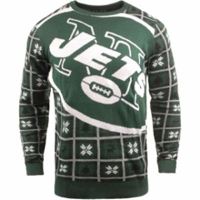 Forever Collectibles フォーエバー コレクティブル 服 スウェット New York Jets Green Big Logo Pullover Sweater