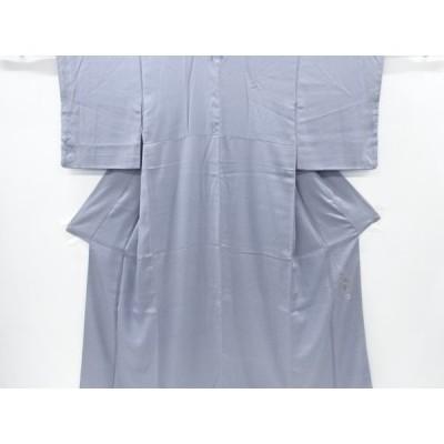 宗sou 百貫達雄作 織柄一つ紋色無地着物【リサイクル】【着】