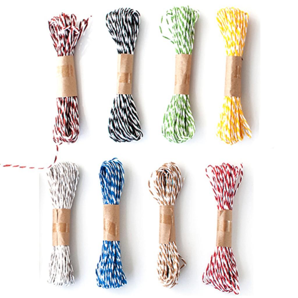 彩色雙股條紋紙繩 手作DIY 包裝 材料 (10米) 芝麻繩【JI2289】《Jami》