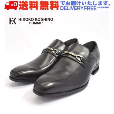 (在庫特価)HIROKO KOSHINO HOMME コシノ ヒロコ オム HK120 ローファー ビット スリッポン ビジネスシューズ 紳士靴 メンズ (nesh) (新品) (送料無料)