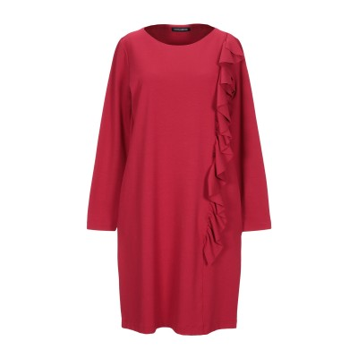 EUROPEAN CULTURE ミニワンピース&ドレス レンガ XS レーヨン 60% / ナイロン 28% / コットン 7% / ポリウレタン