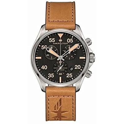 [ハミルトン]HAMILTON 腕時計 アビエーション パイロット クロノグラフ ブラック×ライトブラウン H76722531 メンズ [並行輸入品]