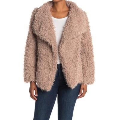 ラブトークン レディース ジャケット&ブルゾン アウター Cassandra Shaggy Faux Fur Jacket BEIGE