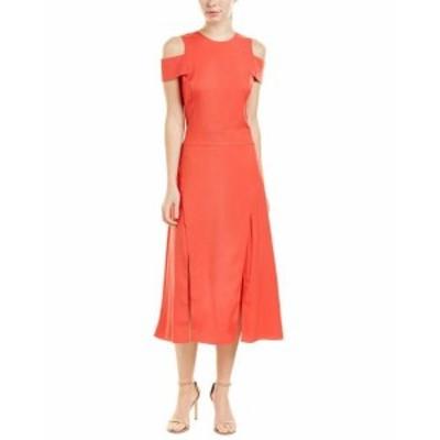 Halston Heritage ハルストンヘリテージ ファッション ドレス Halston Heritage Midi Dress 2 Orange