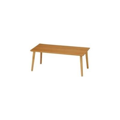ds-1950905 北欧風 突板ローテーブル/センターテーブル 【ナチュラル】 幅80cm 長方形 木製 〔リビング ダイニング〕