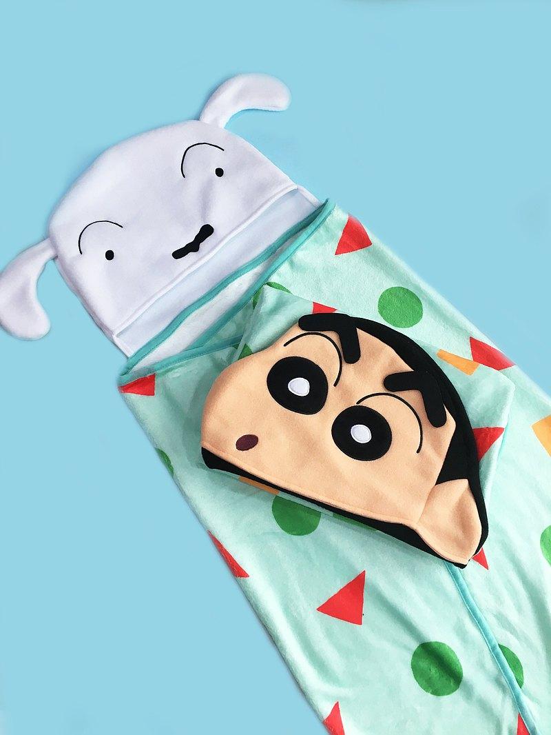 蠟筆小新 正版授權 - 法蘭絨懶人毯 造型披肩 毛毯 電腦毯 保暖毯