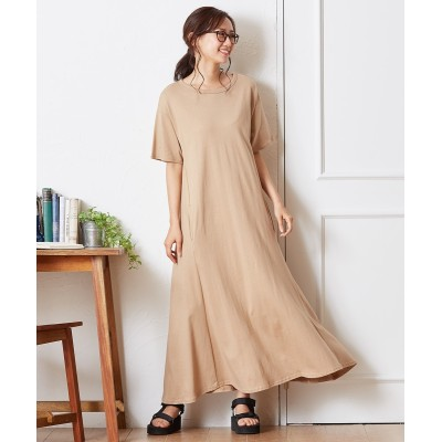 綿100%ヘビーウエイト ゆったりフレアワンピース (ワンピース)Dress
