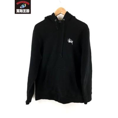 STUSSY ロゴパーカー 黒 (M)[▼]