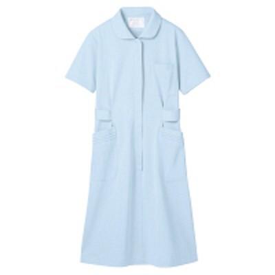 住商モンブラン住商モンブラン ナースワンピース(半袖) 医療白衣 サックスブルー(水色) M 73-1456(直送品)