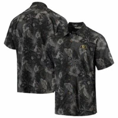 Tommy Bahama トミー バハマ スポーツ用品  Tommy Bahama Colorado Buffaloes Black Fuego Floral Camp Button-Up Shirt