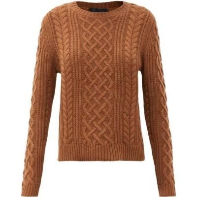 ニリ ロータン Nili Lotan レディース ニット・セーター ケーブルニット トップス Jodelle cable-knit cashmere sweater Brown